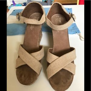 Toms wedges with ankle strap